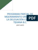 Programa Parcial de Mejoramiento Urbano de La Delegacic3b3n Centro de Tijuana b c 2017-20-1