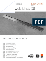Shower Drain Installation Advice Easy Drain Aqua Jewels LINEA XS (E60.03.03.10.14) (2018 r1) Pr