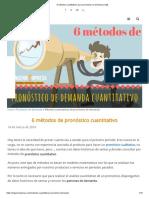 6 Métodos  Cuantitativos Para Pronosticar La Demanda