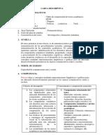 1. Carta Descriptiva Comprensión de Textos