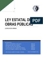 Ley Estatal de Obras Publicas
