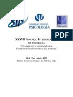MEMORIAS Congreso Interamericano de Psicología 2019 - IsBN - PAG 3