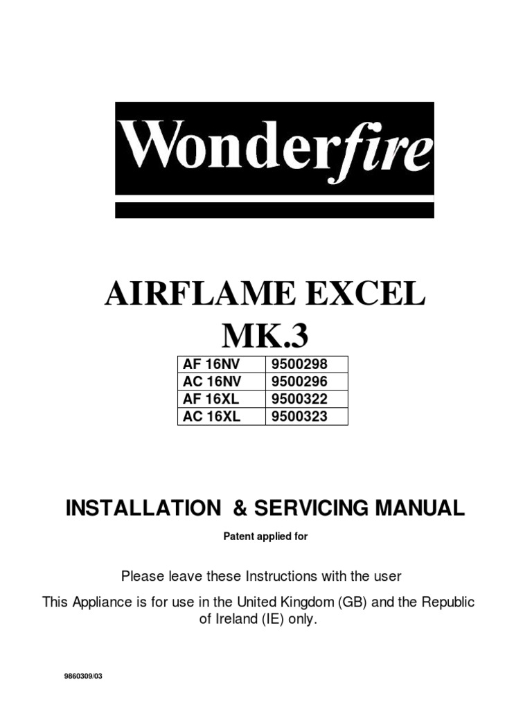 Trident excel gas fire spares