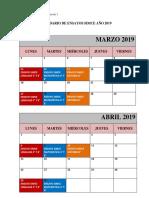 Calendario de Ensayos Simce 2019