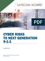 Safecom-ncswic Cyber Risks to Ng911 11.13.19 - Final 508c