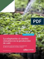 Adaptación al Cambio Climático en producción de Café