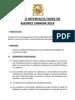 Torneo Interfacultades de Ajedrez Unmsm 2019 (Equipos)