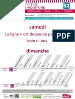 Ligne 52 - Bordeaux Dax Tarbes