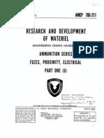 AMCP 706-211, Fuzes, Proximity, Electrical, Part 1