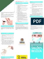 Folder vigilância sanitária para salões de beleza