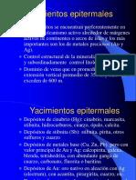 Características de los Depósitos Epitermales