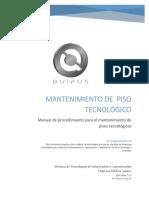 00 - Manual Procedimiento Mantenimiento