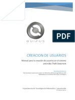22 - Manual Creacion de Usuarios en Theft Deterrent