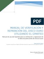 Manual de Verificación y Reparación Del Disco Duro Utilizando El Gparted