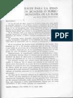 Datos generales para la etnografía de los jicaques o turrupanes de la Montaña de la Flor / Nuñez Chinchilla, Jesús