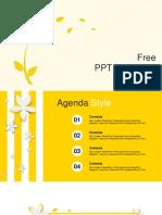 Beautiful Yellow Flower PowerPoint Templates
