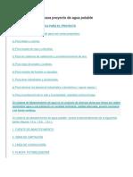 Información Básica Para Proyecto de Agua Potable Diseño Hidraulica  Perfiles de Proyectos