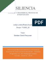 Planear y Describir El Proceso de Intervención