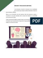 Informacion y Educacion Sanitaria Psicologia