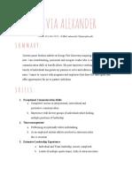 olivia alexander - resume