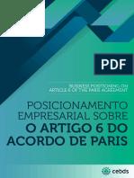 CEBDS_Posicionamento Empresarial Sobre o Artigo 6 Do Acordo de Paris