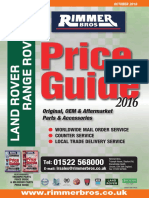 Land Rover Price Guide 2016 Low