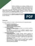 CARACTERISTICAS DE LA DISTROFIA MUSCULAR
