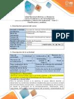 Guía de Actividades y Rúbrica de Evaluación - Fase 2 - Planificación y Análisis