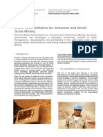 Factsheet Better Gold Initiative for Artisanal and Small-Scale Mining