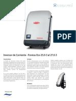 Inversor de Corriente Fronius Eco25S 27S FFTT 2018-03-06