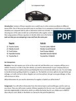 car comparison project-graph using geogebra