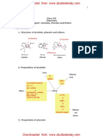 CBSE Class 12 Chemistry - Alchohols, Phenols and Ethers Chapter Notes.pdf
