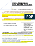 Surgimento dos parques tecnológicos e distritos industriais.docx