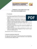 Informe de Reunión de La Junta Directiva de La Ade Con La Sed