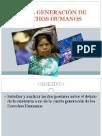 CUARTA GENERACIÓN DE DERECHOS HUMANOS 2016.pptx