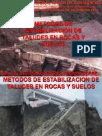 C 09 METODOS DE ESTABILIZACION DE TALUDES EN SUELOS Y ROCAS.ppt