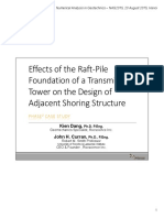 1. Effect of the raft-pile foundation of a transmission tower on the design of adjacent shoring s