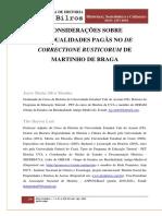 Considerações Sobre Residualidades Pagãs No de Correctione Rusticorum de Martinho de Braga