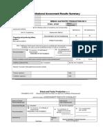 BPP - Institutional Assessment Result Summary