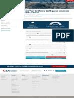 Earthquake Insurance Cost Calculator - Free Estimates for CA Rates _ CEA