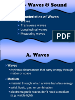 Wave characteristics and types