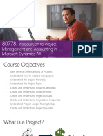 Project Accounting Basic Microsoft Dynamics