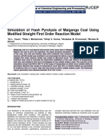 Simulation of Flash Pyrolysis of Maiganga Coal Using Modified Straight First Order Reaction Model