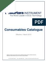 Mortara Consumables List