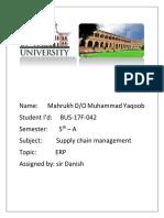 ERP supply chain management (Autosaved)