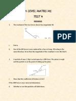 Mechanics Test 4