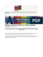 6 Steps in Writing an Article