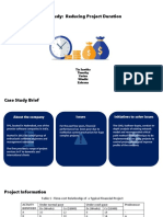 Case Study Reducing Project Duration