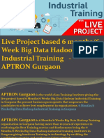6 Months/6 Weeks Big Data Hadoop Industrial Training Course  - APTRON Gurgaon