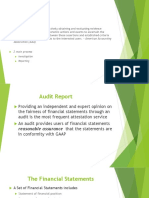 Auditing theory - Audit Report